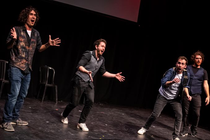 Vest of Friends at TOsketchfest 2020. Photo by Dahlia Katz