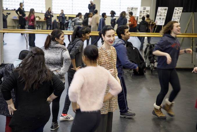 Co-Artistic Director Jeannette Lajeunesse Zingg teaching students from the Deaf and Hard-of-Hearing community in Opera Atelier's Making of an Opera program.