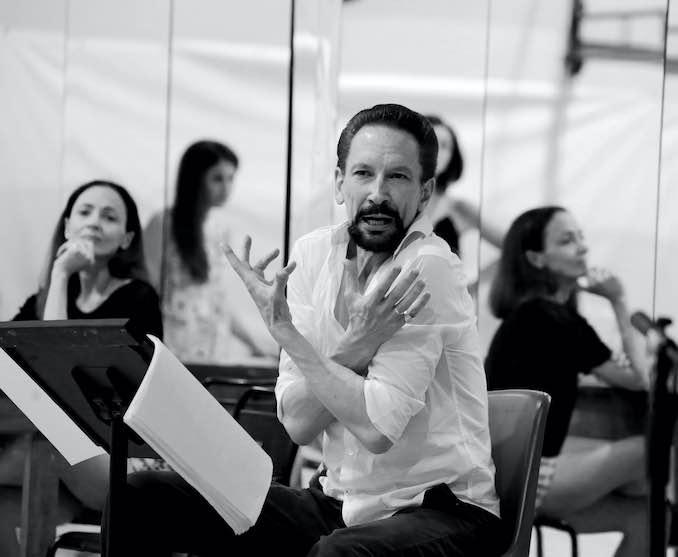 Marshall Pynkoski in Pesaro_Amati Bacciardi: Marshall Pynkoski in rehearsal at the Rossini Opera Festival in Pesaro, Italy.