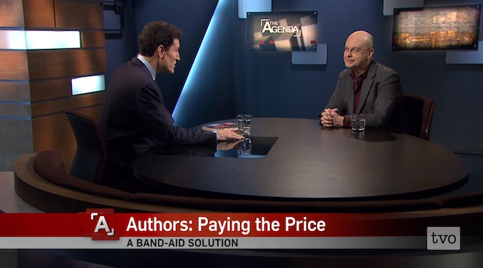 I get interviewed a lot on TV and radio; here I am in one of my appearances on TVO's The Agenda chatting with the great Steve Paikin.