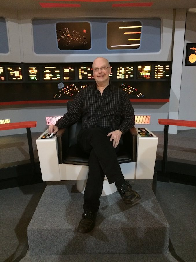 I've always loved Star Trek, and so when I got asked to script the two-part series finale for the popular web-series Star Trek Continues, I jumped at the chance; here I am on-set in Kingsland, Georgia, where we made the show.