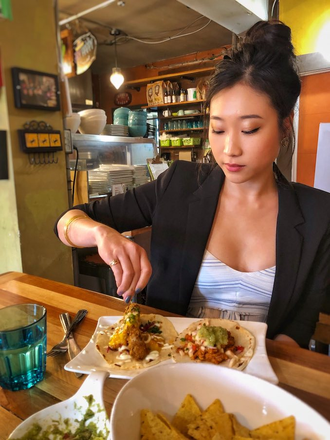 I love going out for food and enjoying a good meal with friends. It's the best way to catch up, hang out and try new places. Plus tacos, I love tacos.