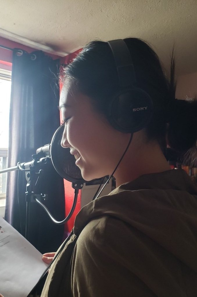 Recording a voiceover audition in my friend's studio. As actors we're always preparing and doing countless auditions. A voiceover audition is different than an on camera audition but equally as fun.