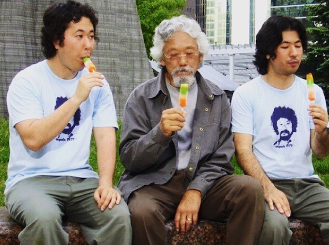 David Suzuki has taught me and my brother a lot about work/life balance.