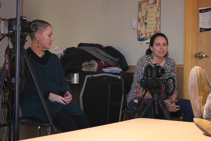 In Sachs Harbour, NT teaching film workshops (2020)