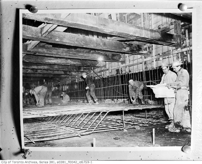 1940-Men working underground