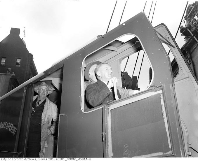 1949-Septemmber 8- Ground breaking for Yonge Subway construction