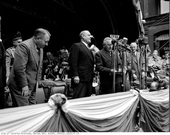 1949-September 8- Ground breaking for Yonge Subway construction
