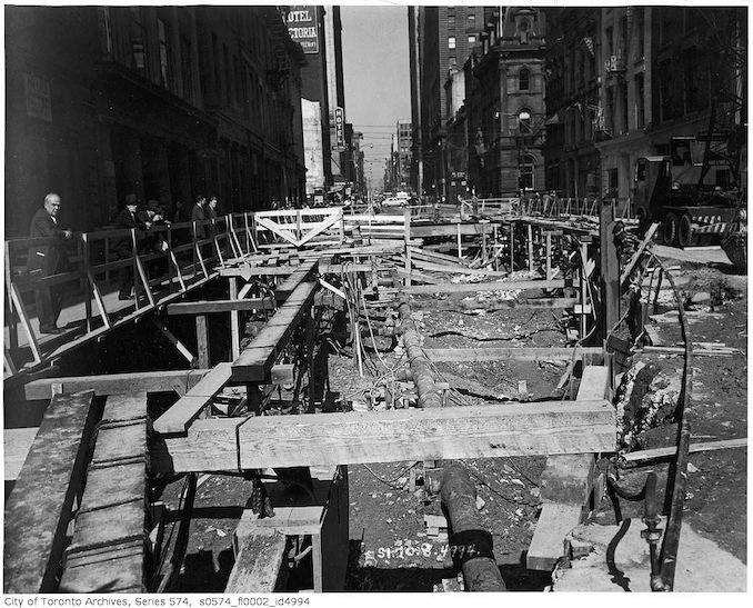 1949 - Yonge Street subway construction