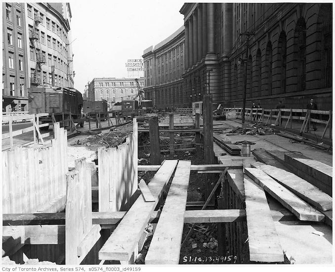 1949-Yonge Street subway construction