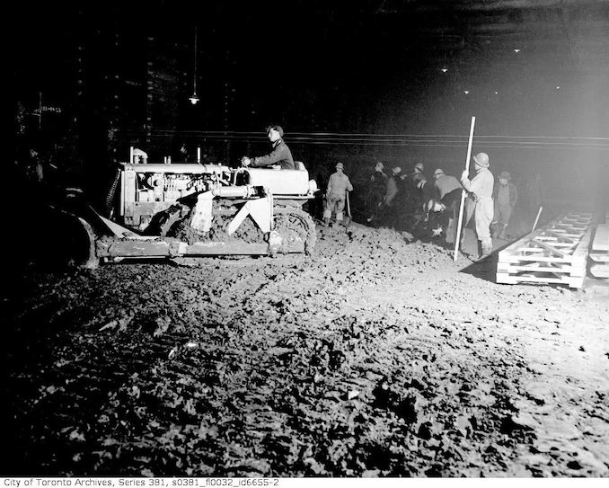 1950-March 16-Underground construction near Queen Street