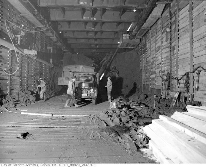 1950-March 2-Underground construction near Queen Street