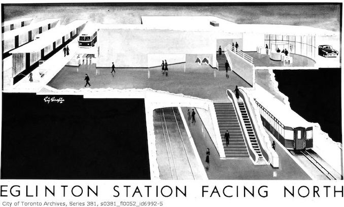 1960-June 16-Artist's renderings of subway stations : by Sigmund Serafin