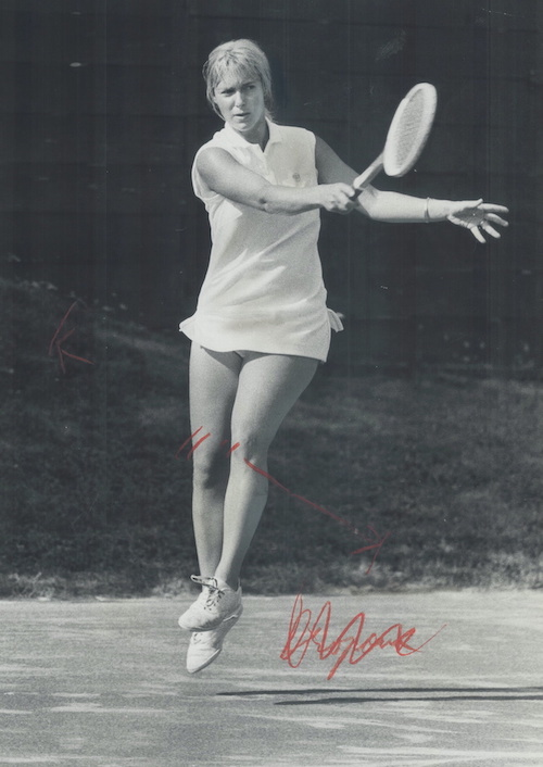 1970 - Takes women's title: Andree Martin performs almost without a flaw to win the women's singles title at the Canadian Closed Tennis Championship