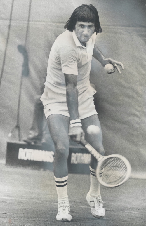 1975 - Romanian Ilie Nastase was on best behavior last night and gave superb demonstration of clay court tennis