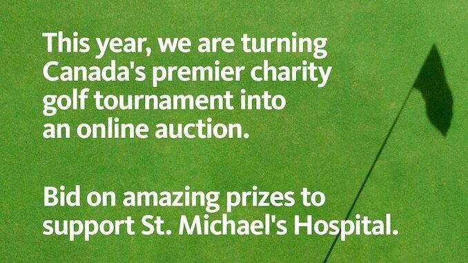 St. Michael's Hospital's annual golfing fundraiser moves online