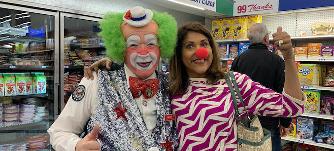 With a clown friend I found in Palm Springs