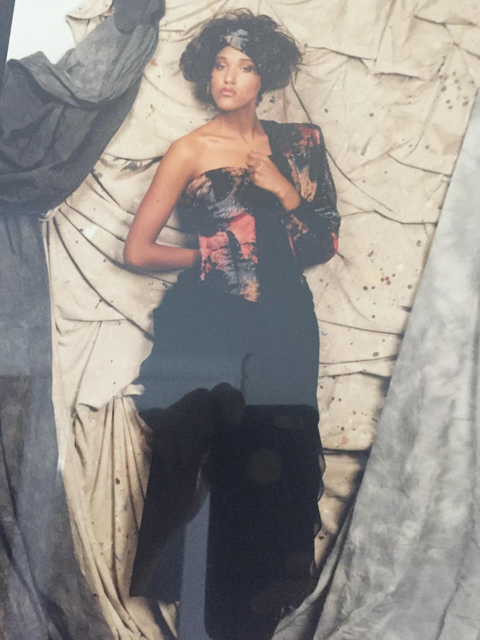 THIS is from 20 years ago when I was MC and promoting my friend Gloria Leach as a designer since she made the dress for the occasion I had it as the program cover then I would promote her through out the evening.