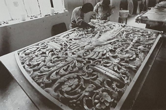 1988 - Restoration silicon mould plast casting