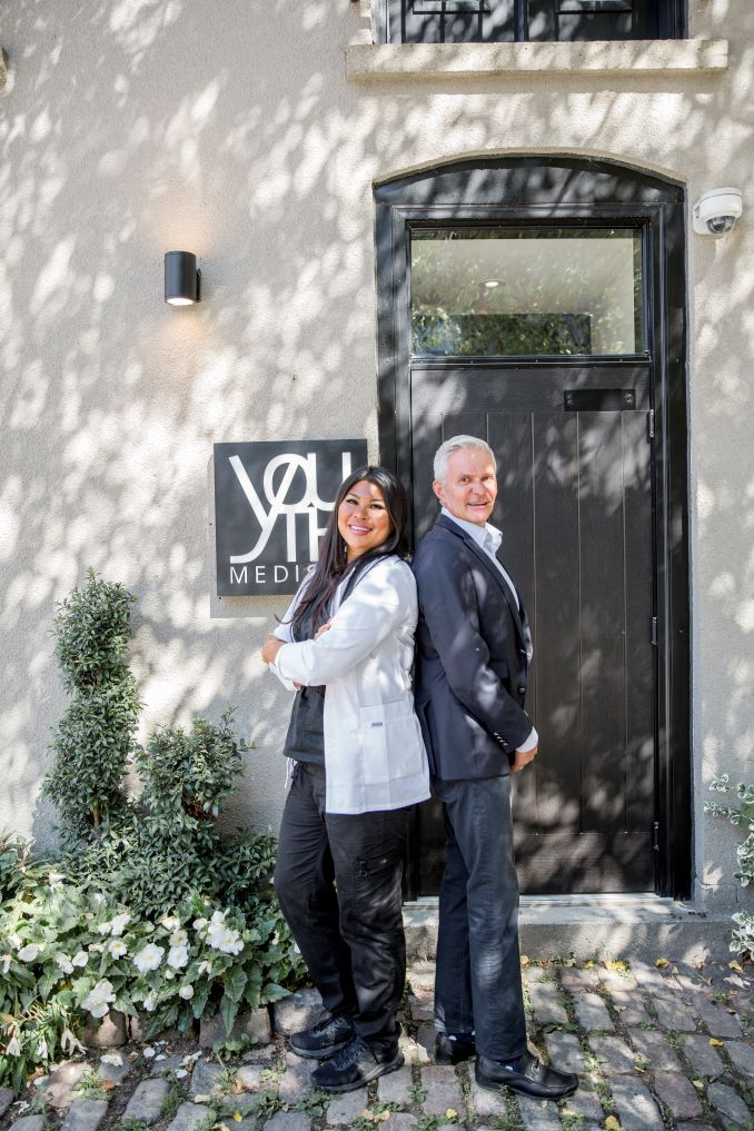 Michelle Mag-Iba, Clinic Director and Partner of Youth MediSpa and Les Tomlin, CEO