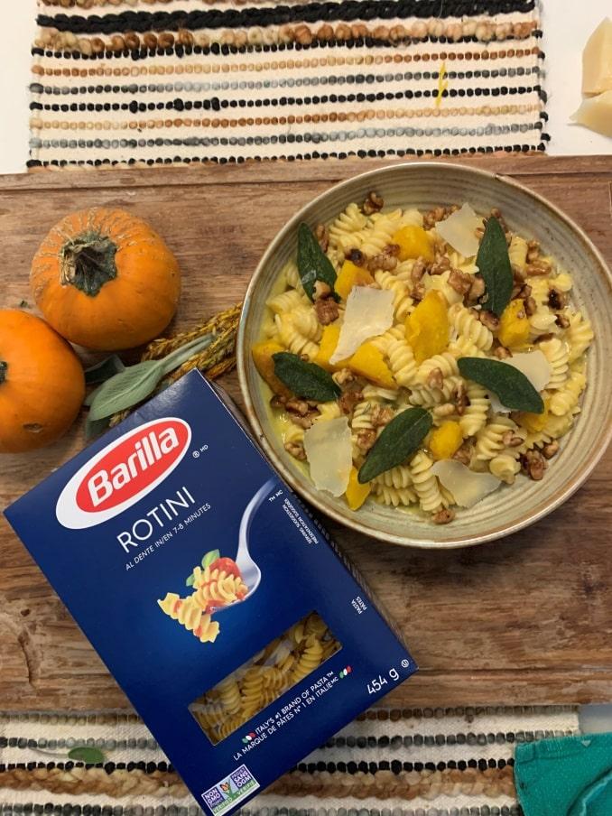 Acorn Squash and Sage Rotini Dish-min