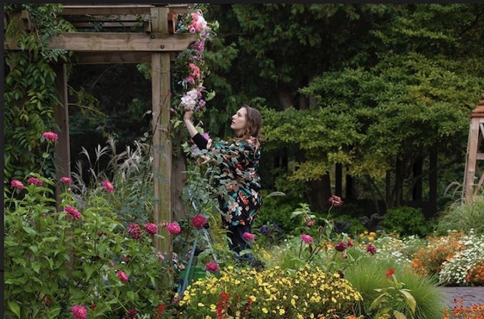 Behind the scenes of JOEY Short Film, creating a flower arch first thing in the AM for the colourful wedding scene. I've had a side hustle of designing wedding flowers for the past few years, I love it when my film and flower worlds collide!