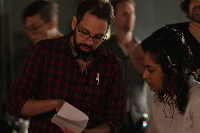 We filmed Receiver last year. Here I am on set, working with lead actress Tahirih Vejdani