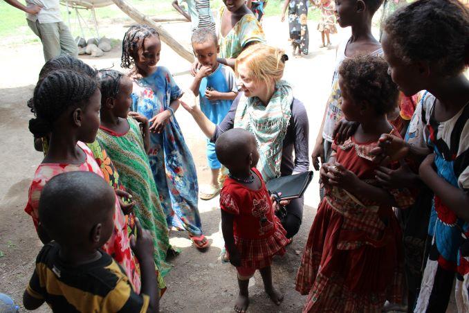 Dr. Samantha Nutt in field - September 2011- War Child