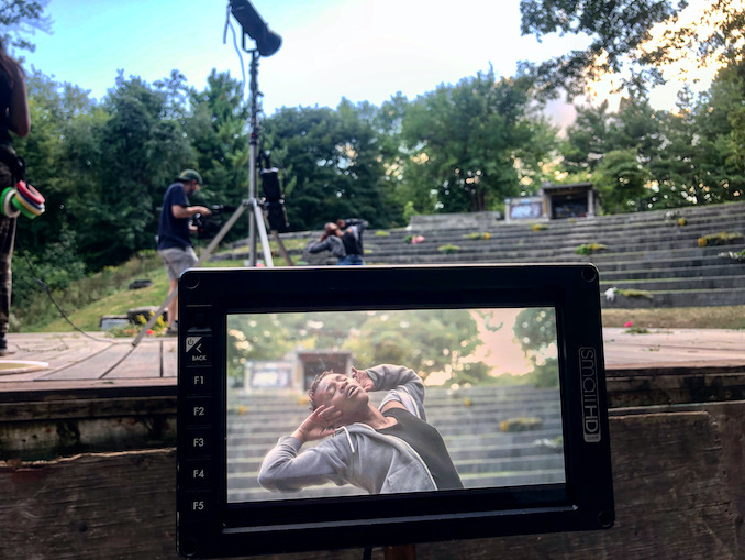 Speaking of Strangers, here is my director's view from behind the camera! Here you can see unbelievably talented actor, Amaka Umeh, starring in the piece. Aisha and I both acted with Amaka in a play called The Wolves in 2018 so it has been really special to work with them again, especially during such a difficult and isolating year.