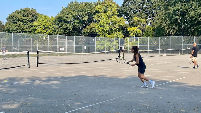 I've been playing a lot of tennis lately. I used to play as a kid and on my high school team but I've picked it up again as a COVID safe way of seeing friends and exercising at the same time.