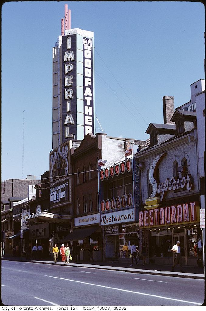 1972 - Imperial Theatre, Yonge Street