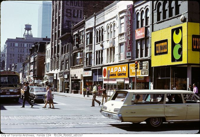 1972 - Yonge Street, west side, south from Dundas Street