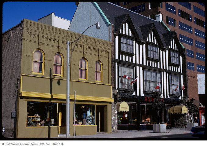 1973 - View of Ridpath's on west side of Yonge Street, north of Davenport Road