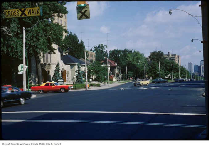 1973 - View of Yonge Street and Lawton Boulevard, north of St. Clair