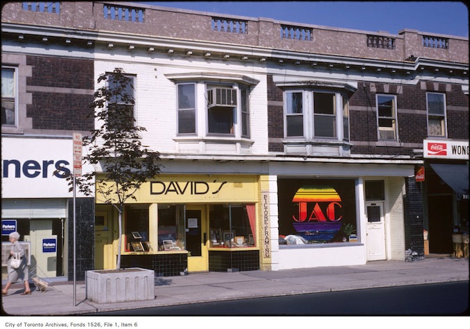 1973 - View of Yonge Street west-side shops, just north of St. Clair