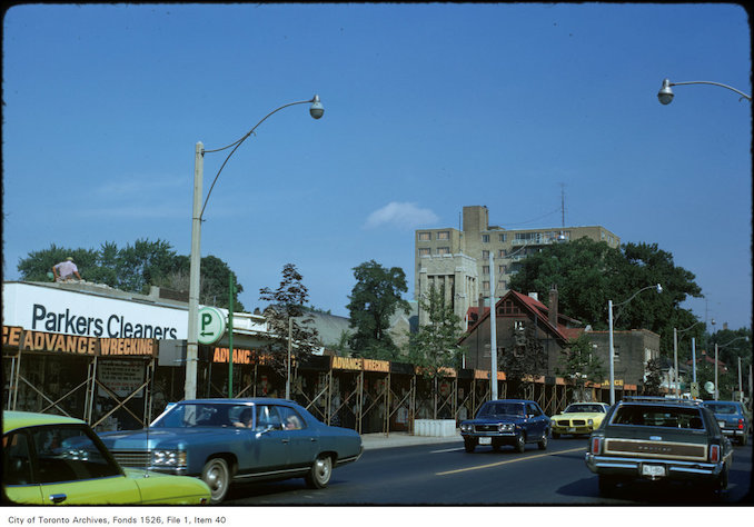 1974 - View of Yonge Street, looking from Delisle Avenue