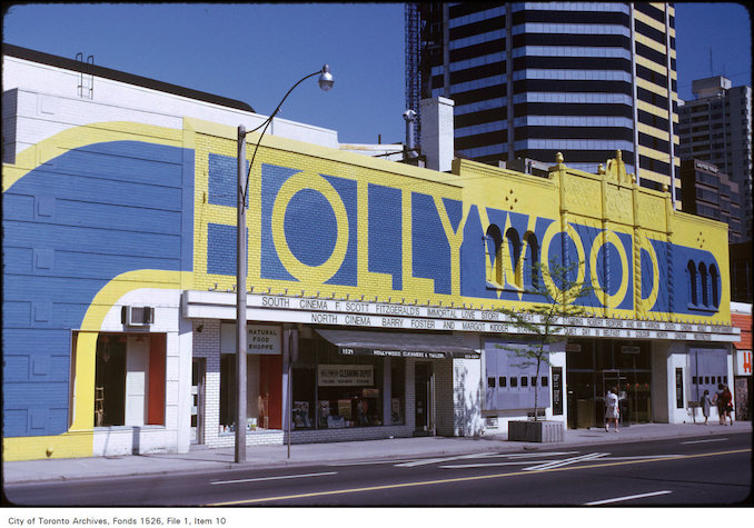 1974 - View of the Hollywood Theatre on Yonge Street just south of Heath Street
