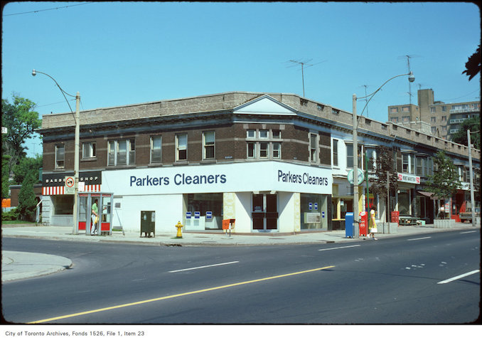 1974 - View of the corner of Yonge Street and Delisle Avenue