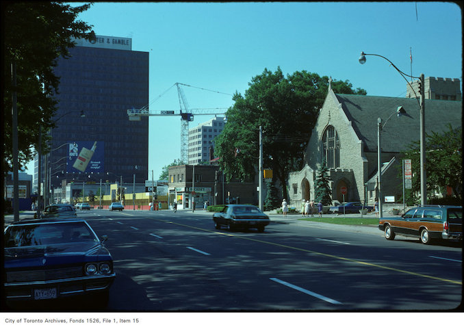 1975 - View of Yonge Street at Lawton and Heath Street
