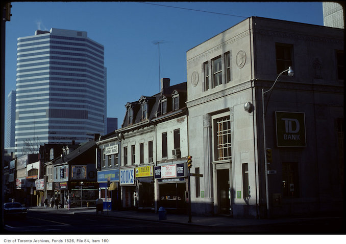 1977 - View of Yonge Street shops and Eaton Centre