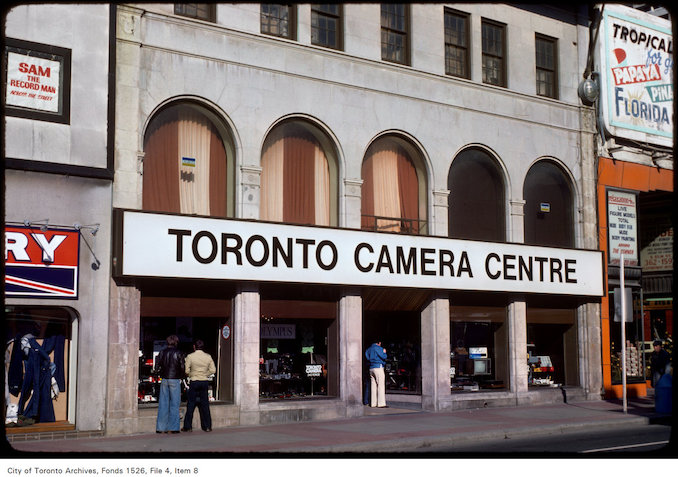 1977 - View of the Toronto Camera Centre on Yonge Street