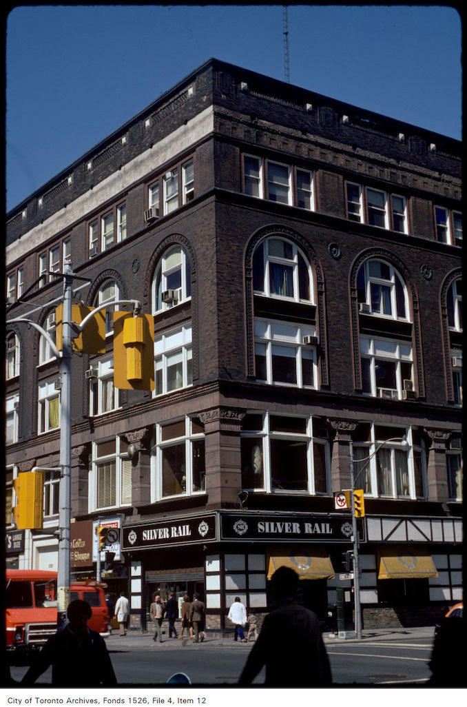 1977 - View of the building at the corner of Yonge and Shuter Street