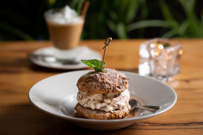 Vegan Apple Crisp Ice Cream Sandwich from Atomica Kitchen/Cocktails