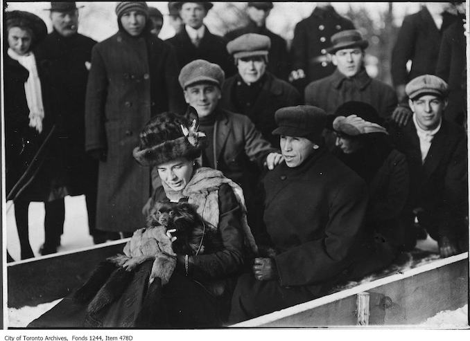 1909 - Tom Longboat at High Park toboggan slides