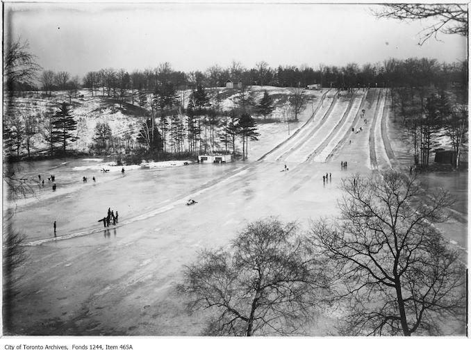 1910 - Toboggan runs, High Park