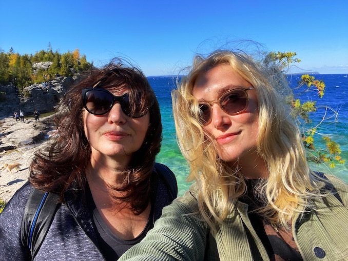 What I do in my time between gigs and shoots is just as important to me: it's a time to decompress so new inspiration has room to grow. Because of COVID, I've been staying closer to home and exploring the beautiful province of Ontario. My mom, Valentyna, and I do a lot of hiking together.