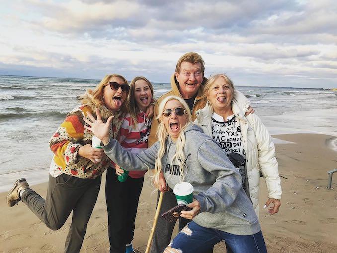 Amanda Handy film producer with family