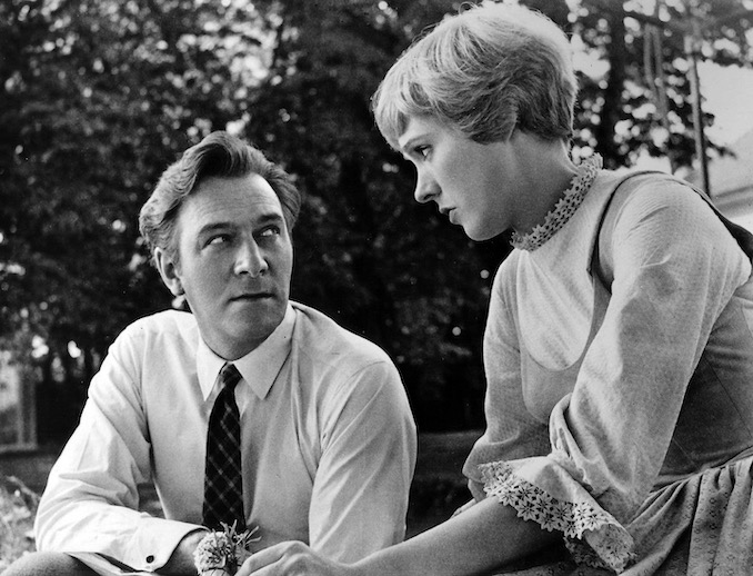 Christopher Plummer and Julie Andrews on location in Salzburg during the filming of The Sound of Music, 1964 -2
