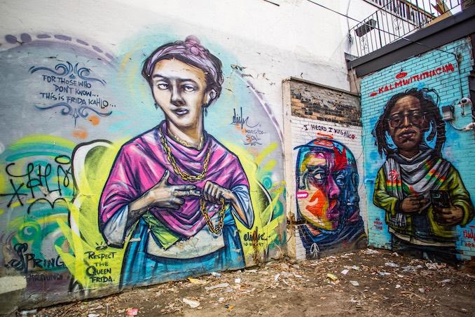 Murals in Renfrew Place alleys