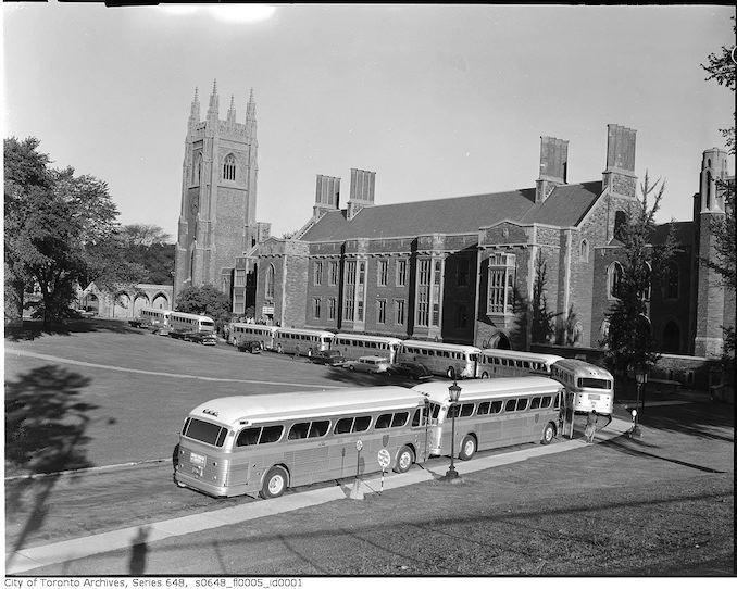 1957 - Buses at Hart House